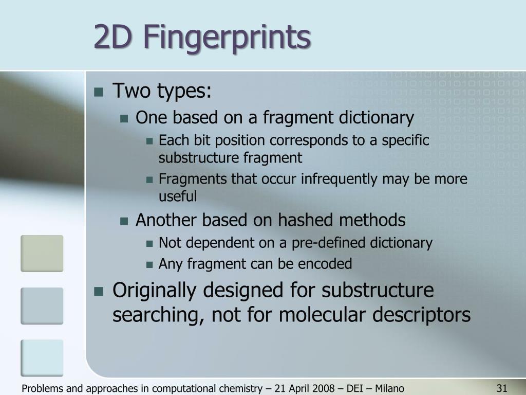 2D Fingerprints