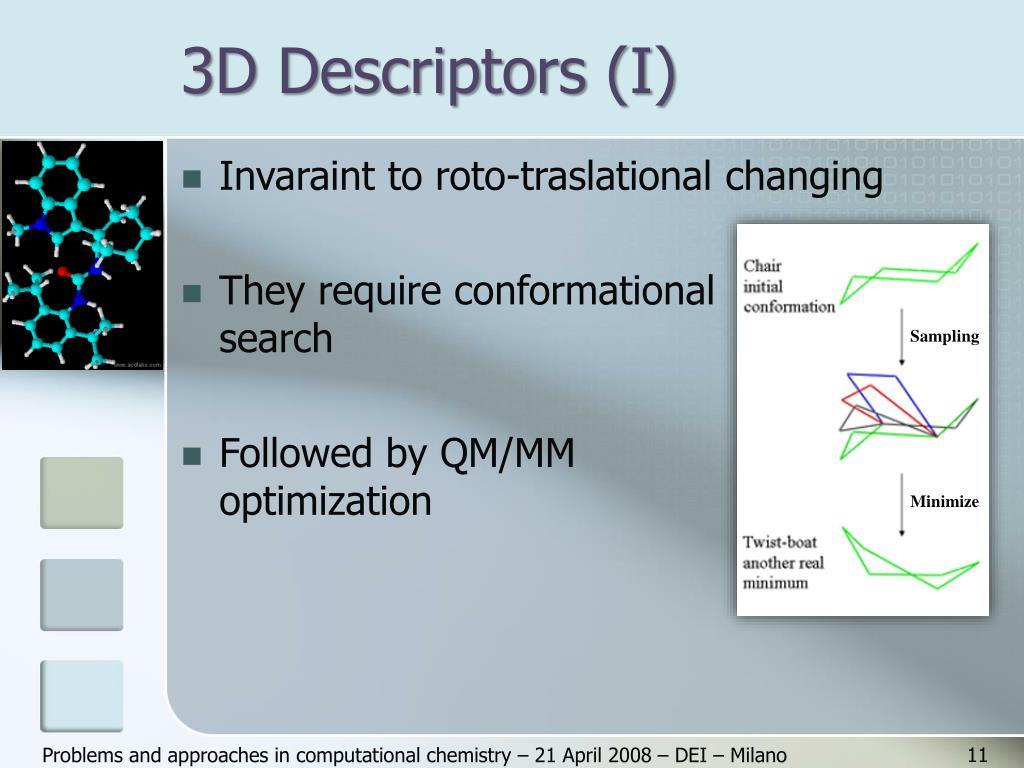 3D Descriptors (I)