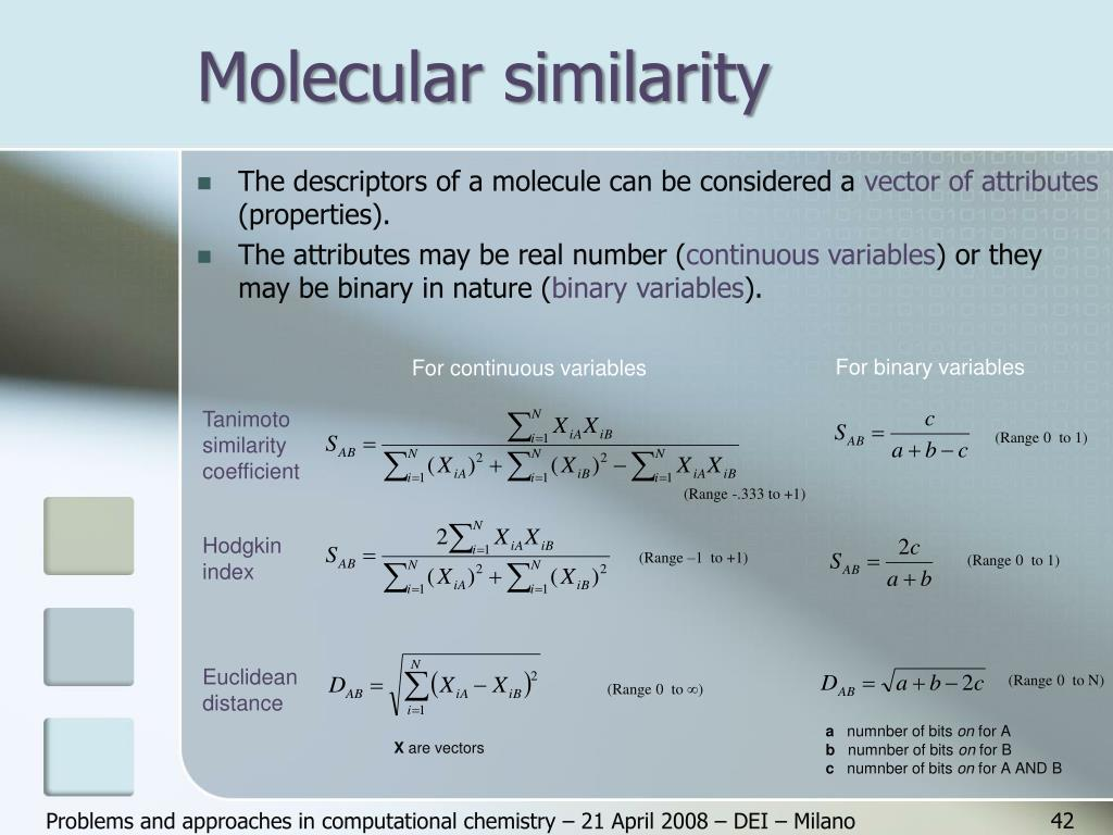 Molecular similarity