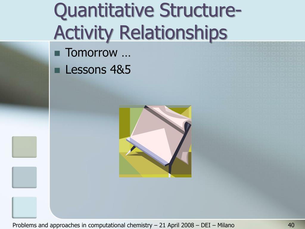 Quantitative Structure-Activity Relationships