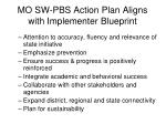 mo sw pbs action plan aligns with implementer blueprint