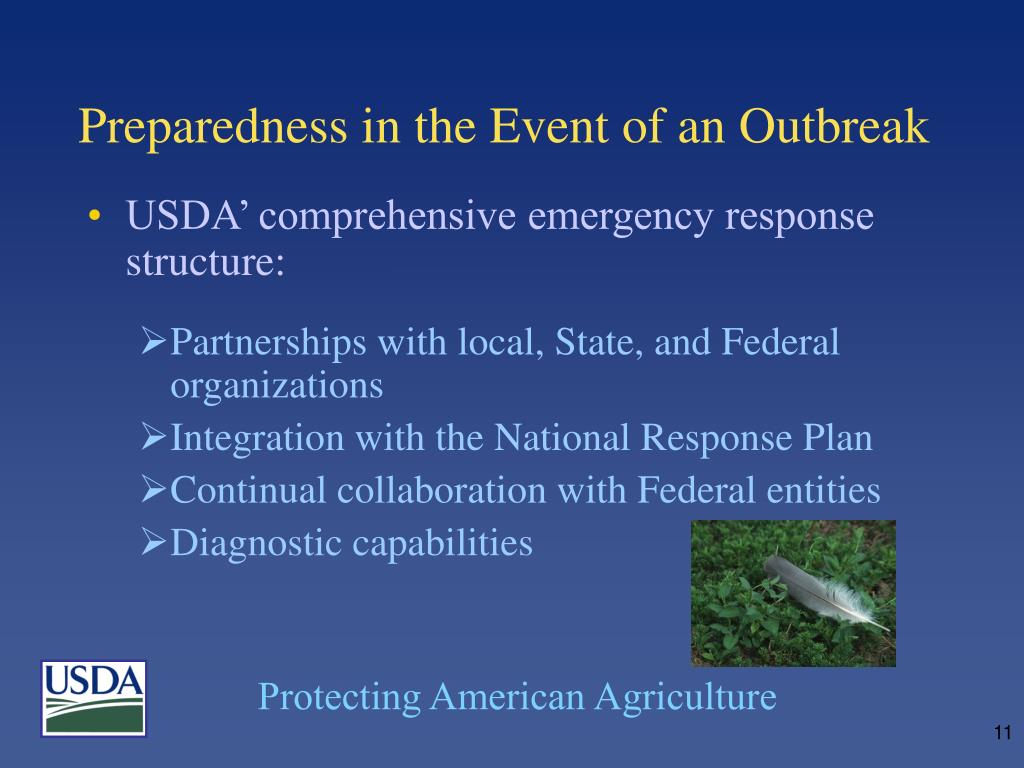 Preparedness in the Event of an Outbreak