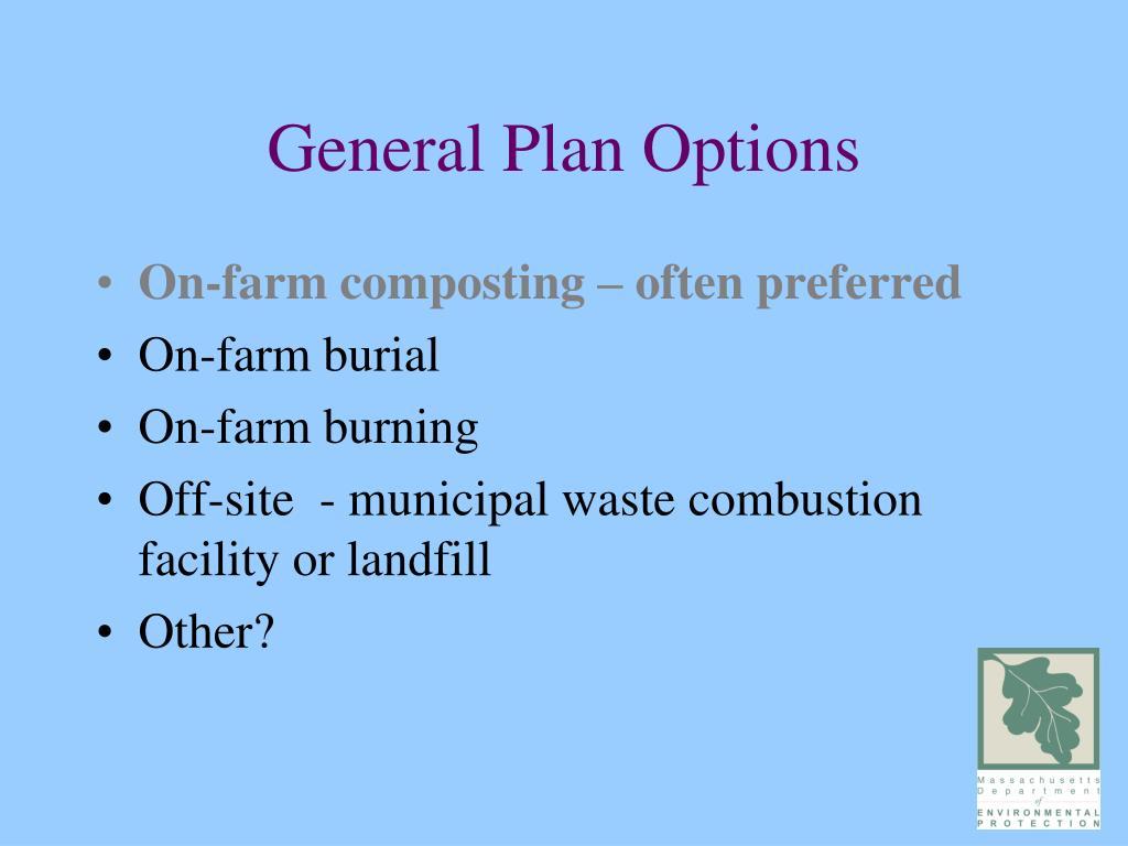 General Plan Options