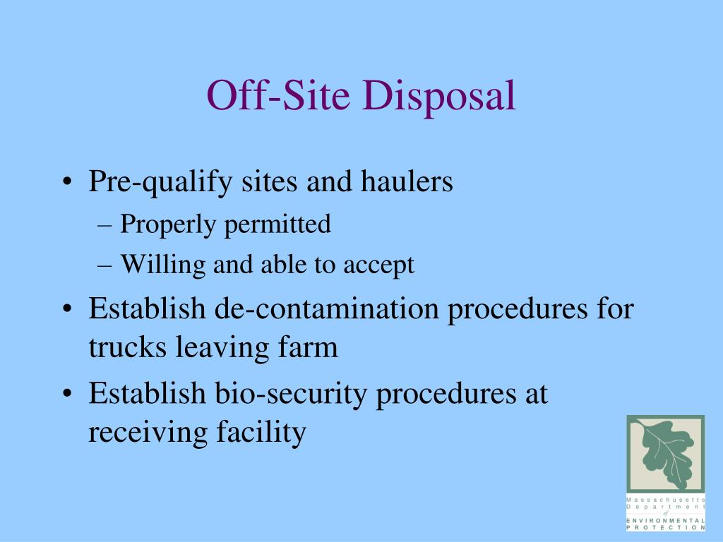 Off-Site Disposal