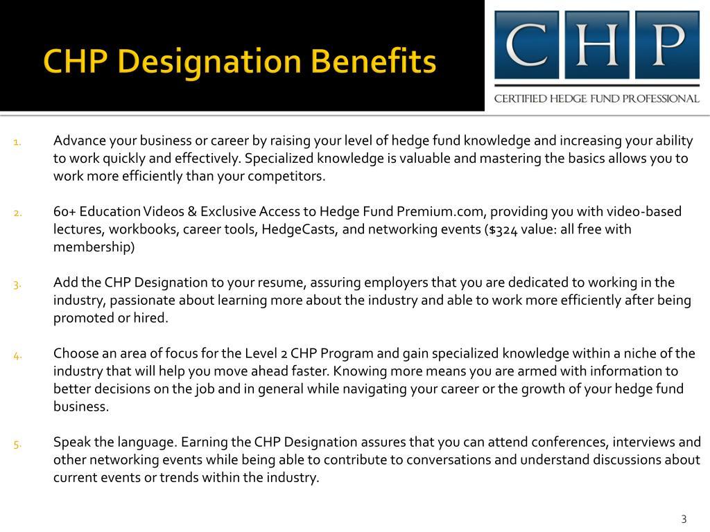 CHP Designation Benefits