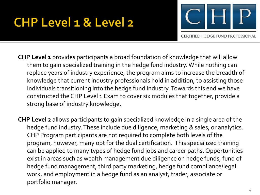 CHP Level 1 & Level 2