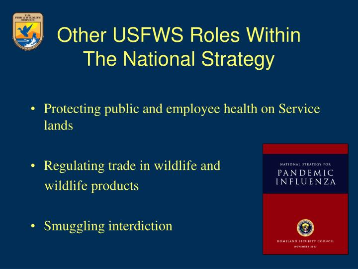 Other usfws roles within the national strategy