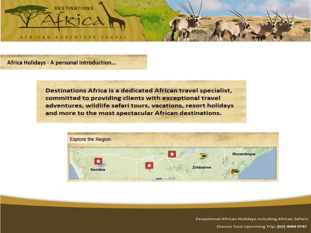Africa Holidays – A Personal Introduction: