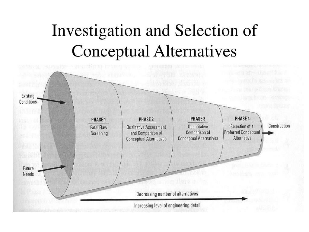 Investigation and Selection of Conceptual Alternatives