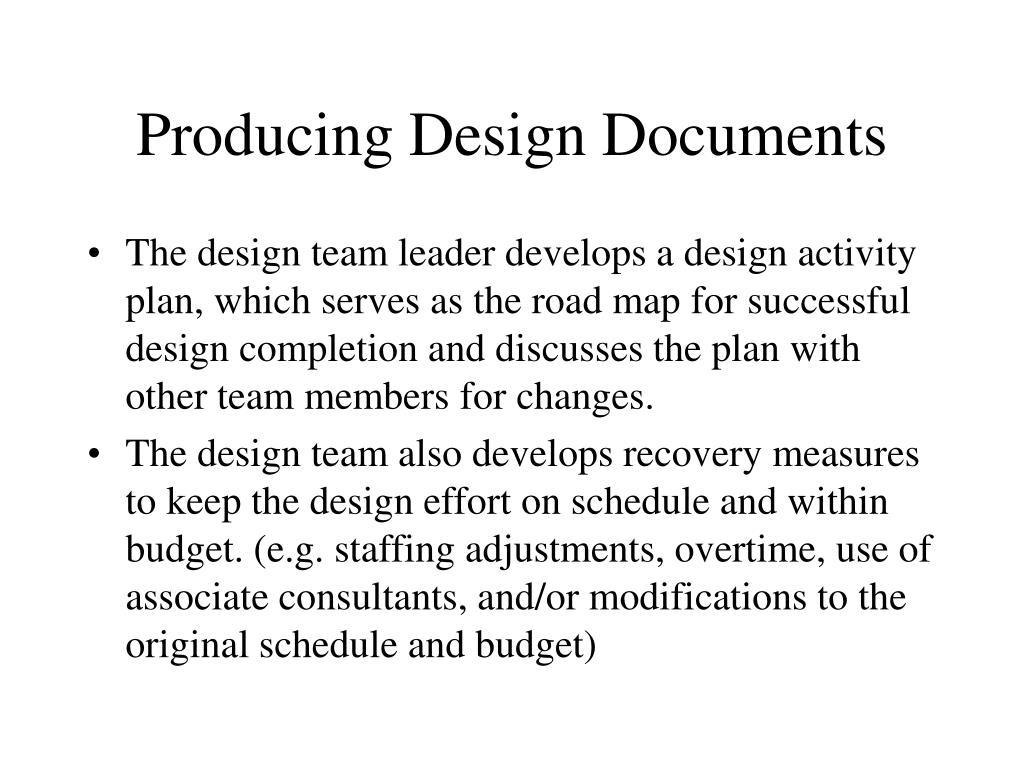 Producing Design Documents