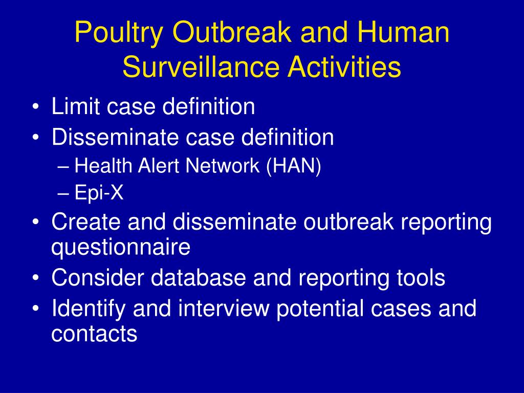 Poultry Outbreak and Human Surveillance Activities