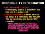 biosecurity information21