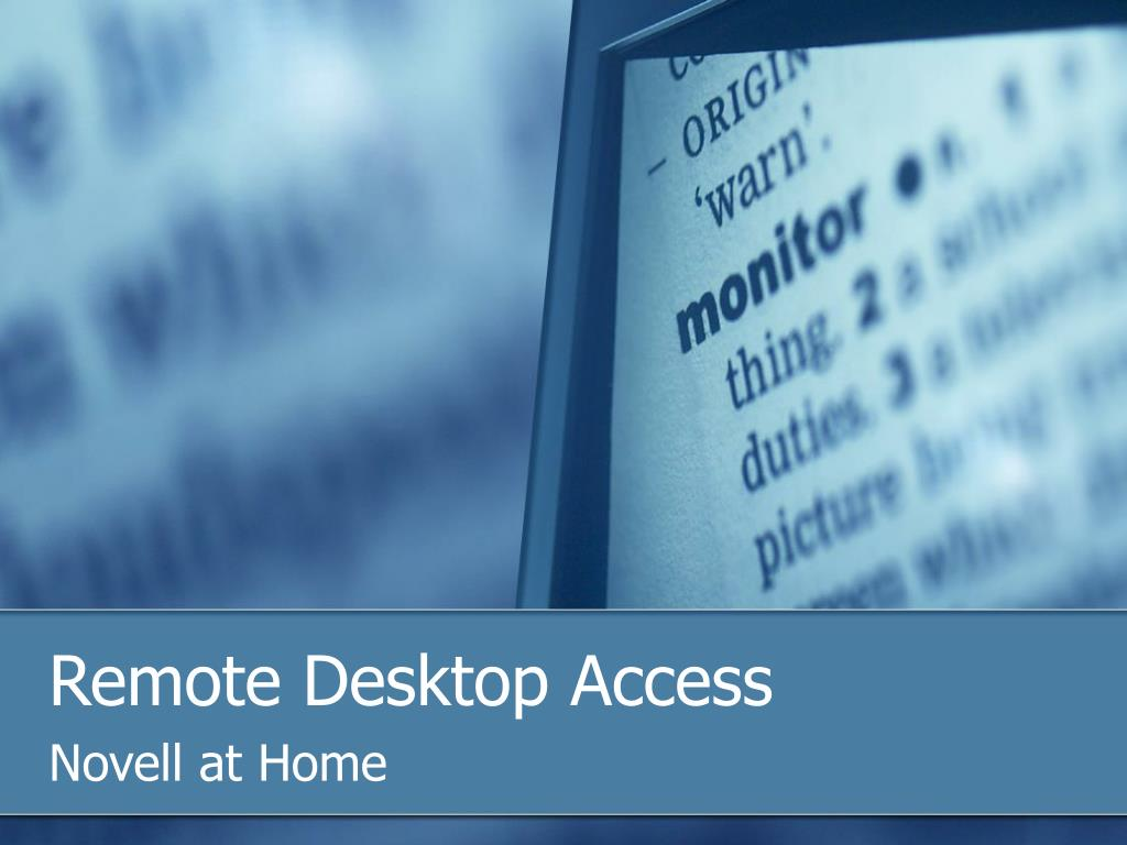 Remote Desktop Access