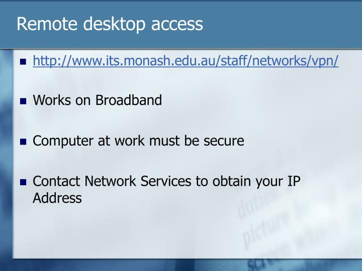 Remote desktop access2