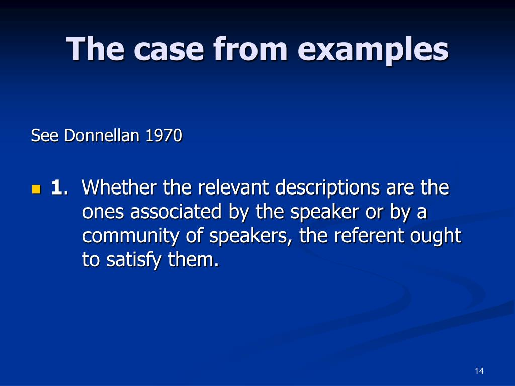 The case from examples