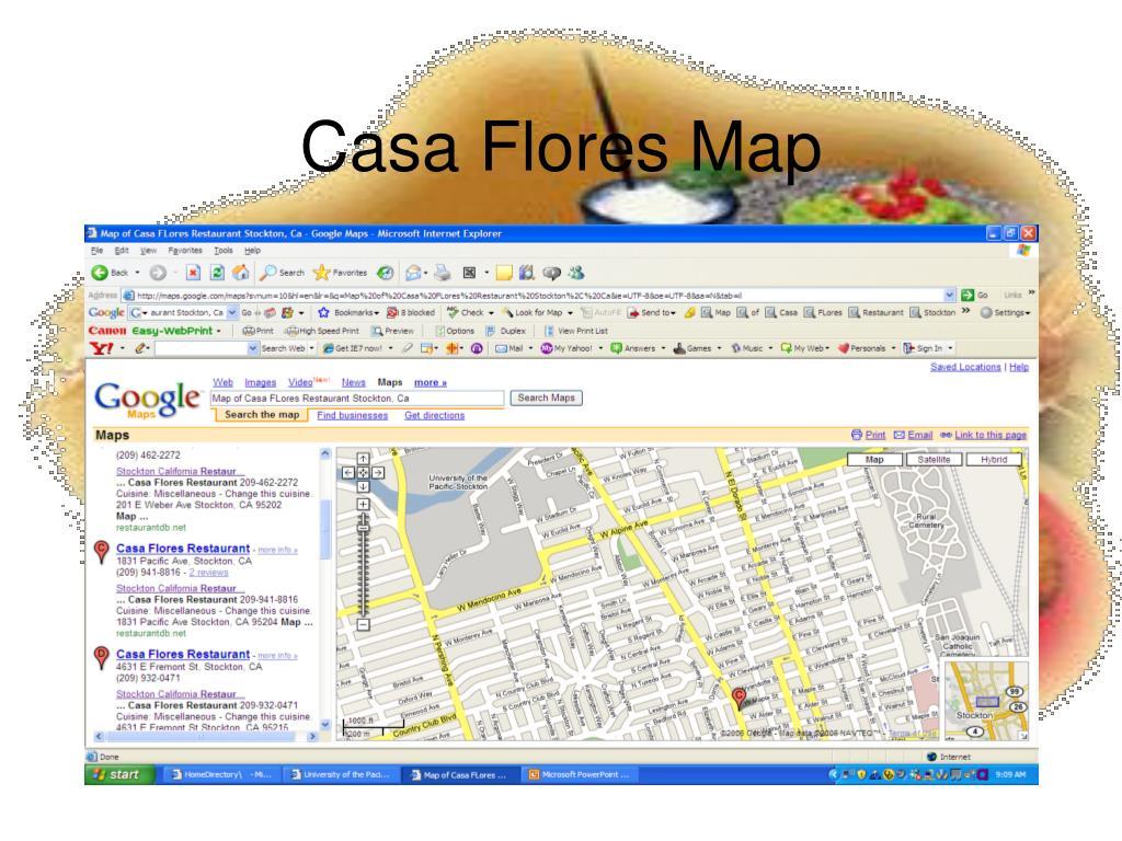 Casa Flores Map