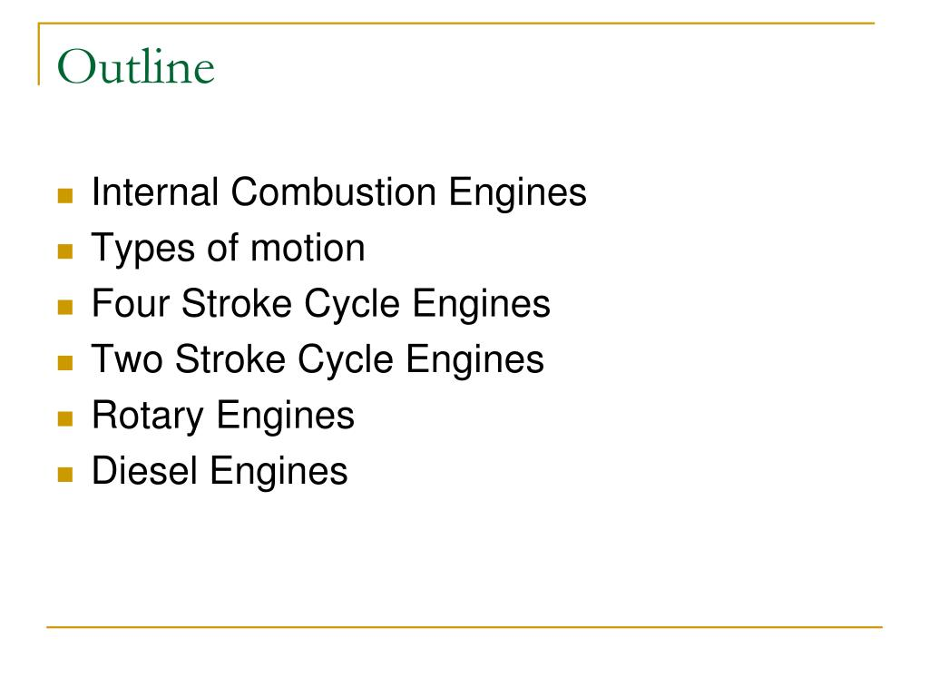 alternatives to internal combustion engines essay Free essay: the gasoline powered internal combustion engine has changed the way we live it has made it possible for us to work more efficiently, get from.