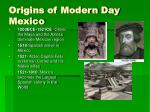 origins of modern day mexico