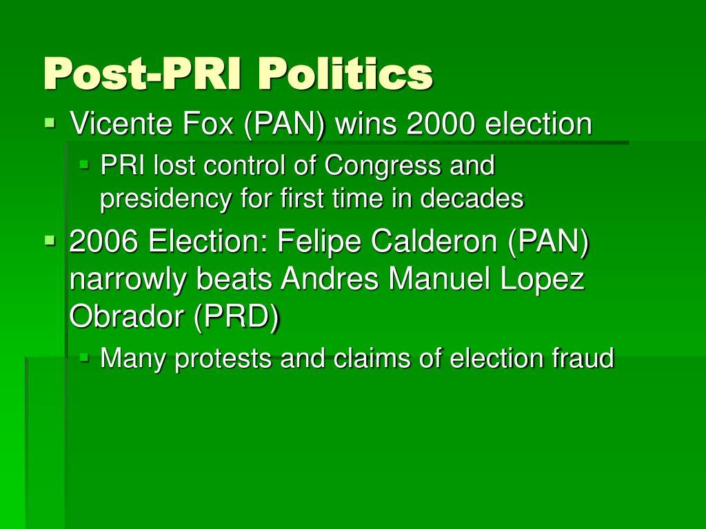 Post-PRI Politics
