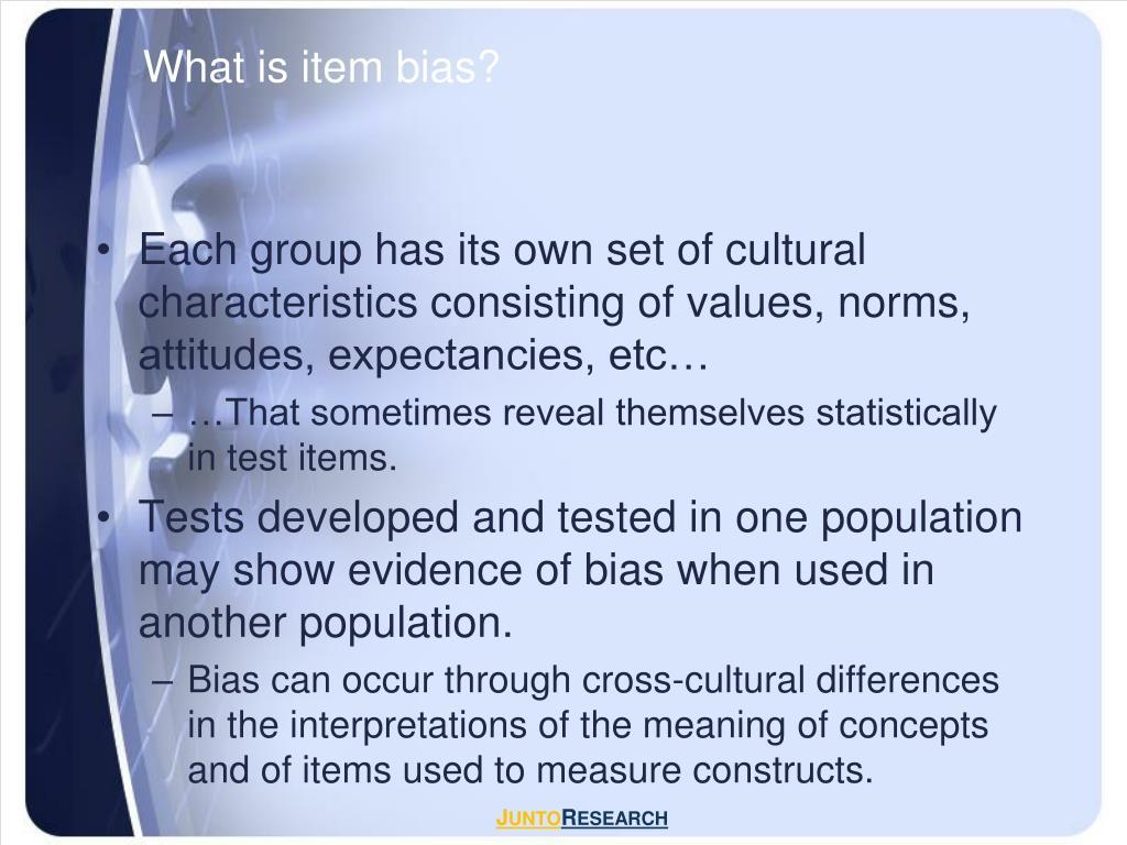 What is item bias?