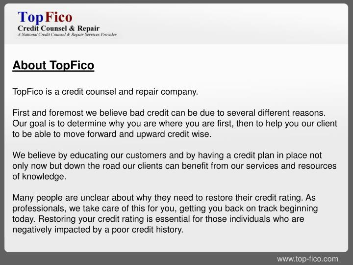 About TopFico