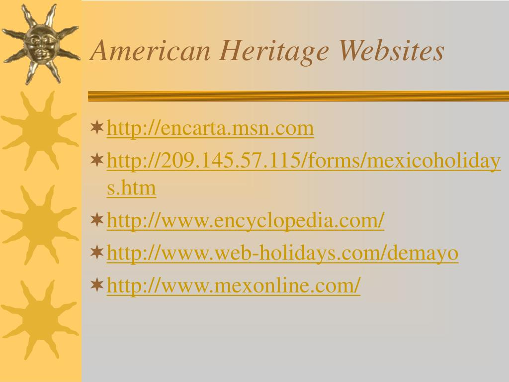American Heritage Websites