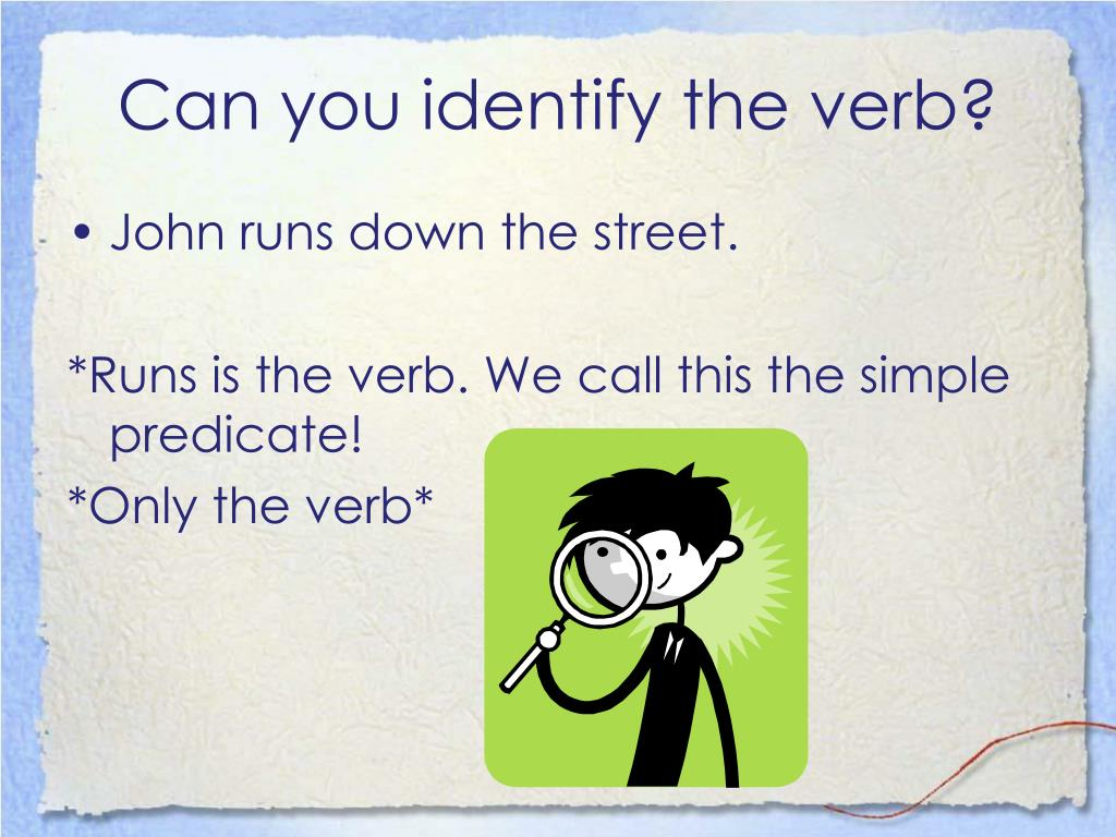 Can you identify the verb?