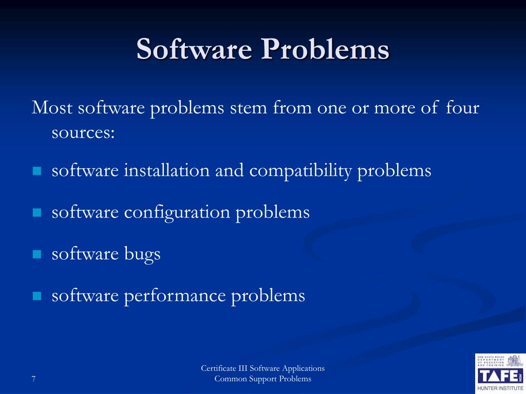 what do you understand by software problem