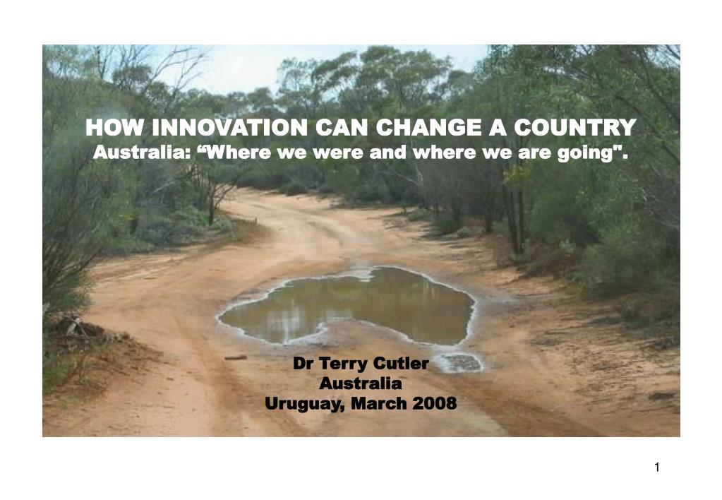 HOW INNOVATION CAN CHANGE A COUNTRY