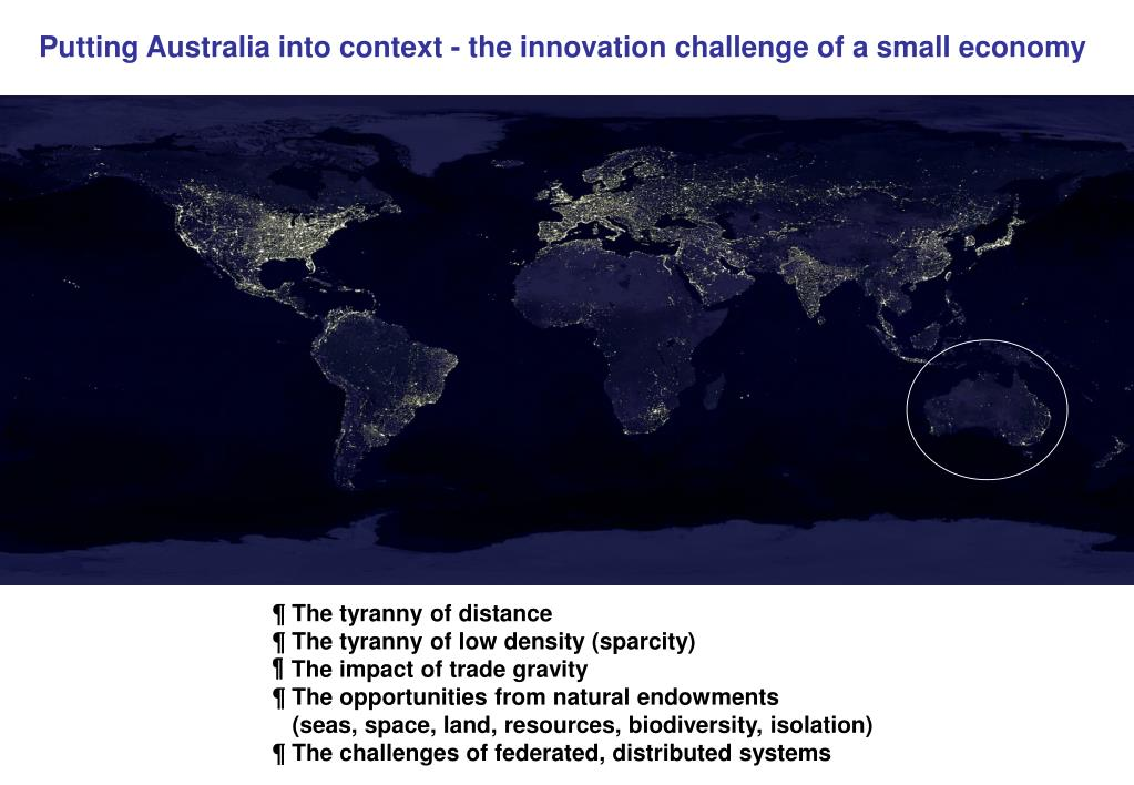 Putting Australia into context - the innovation challenge of a small economy