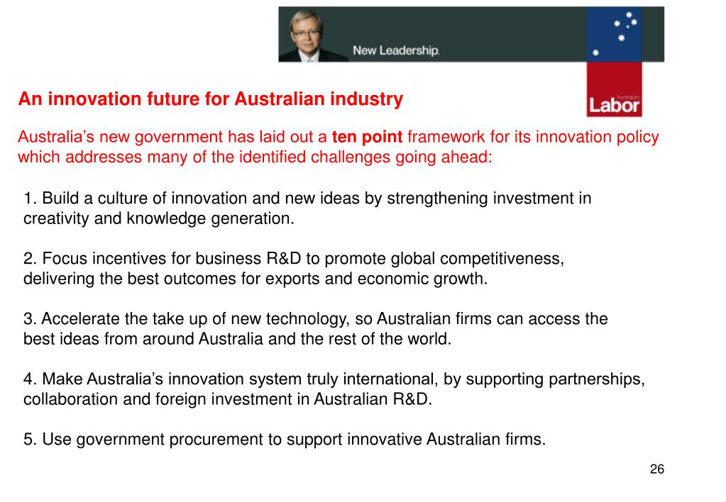 An innovation future for Australian industry