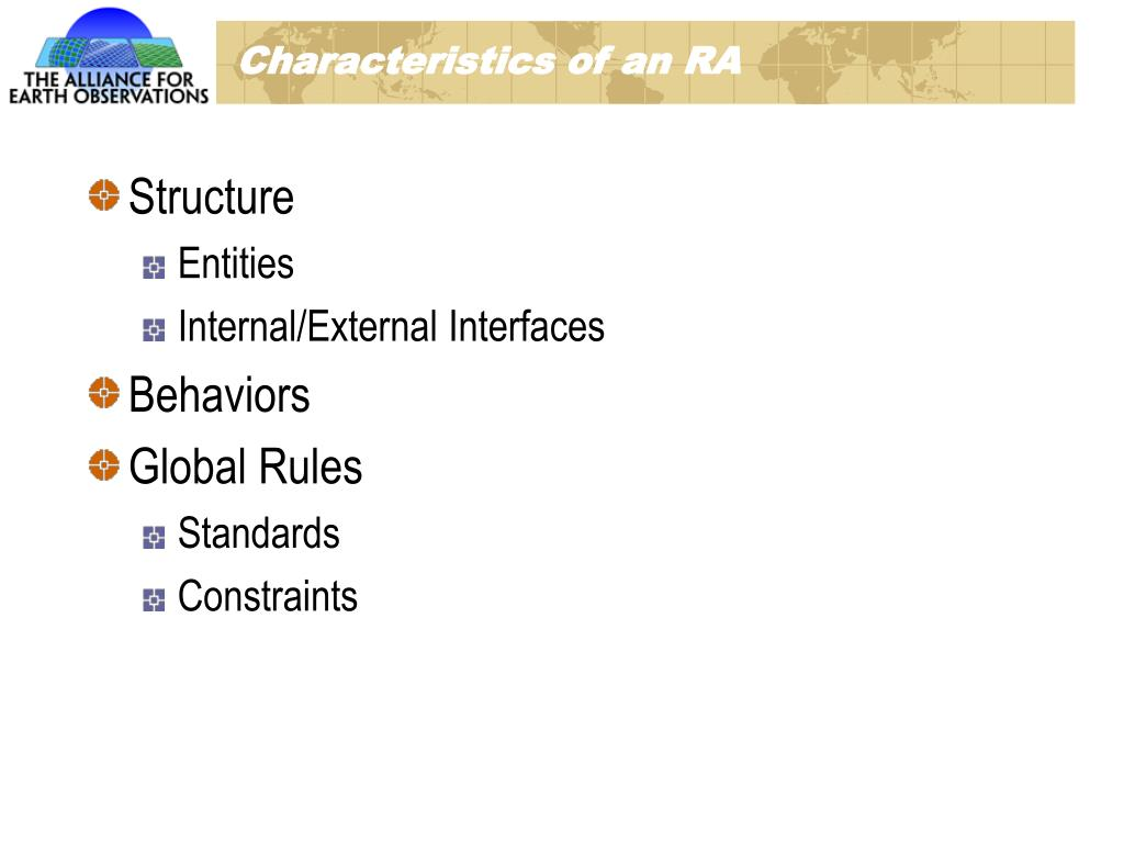 Characteristics of an RA