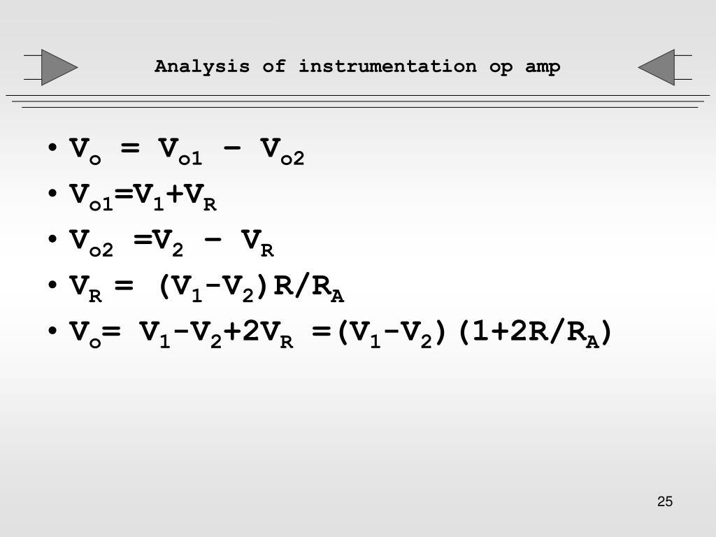 Analysis of instrumentation op amp