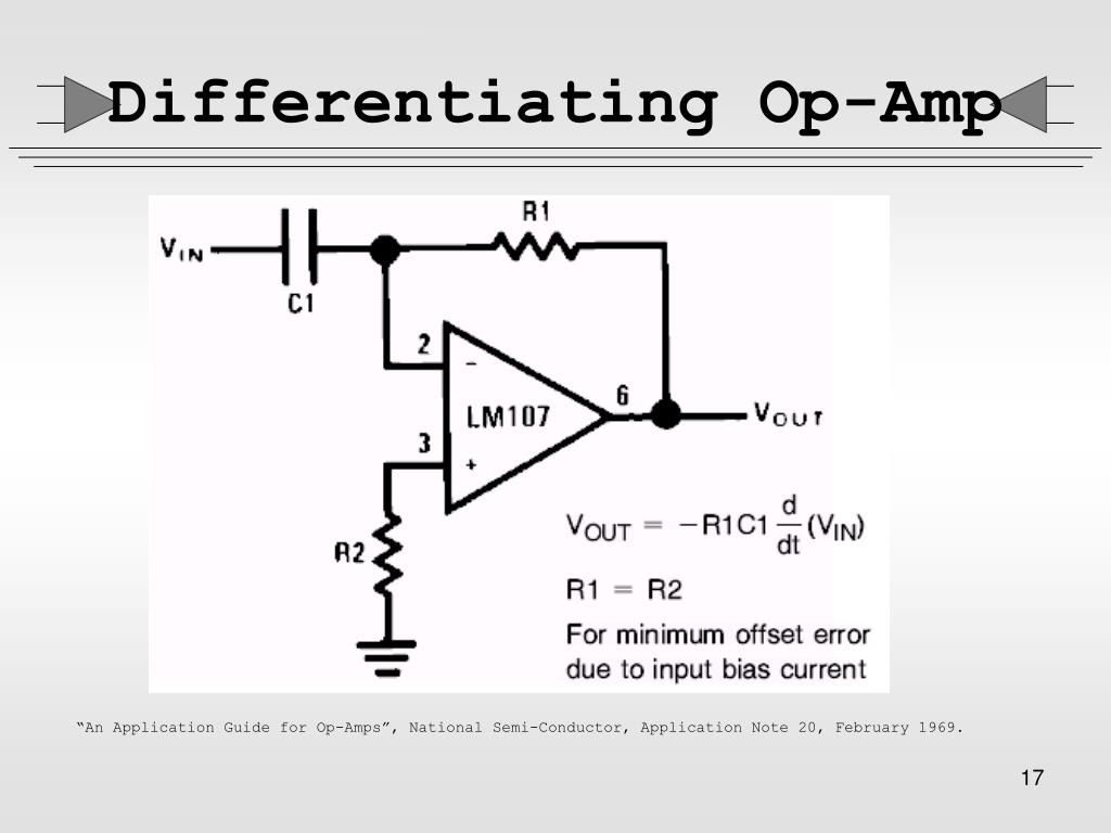 Differentiating Op-Amp