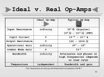 ideal v real op amps