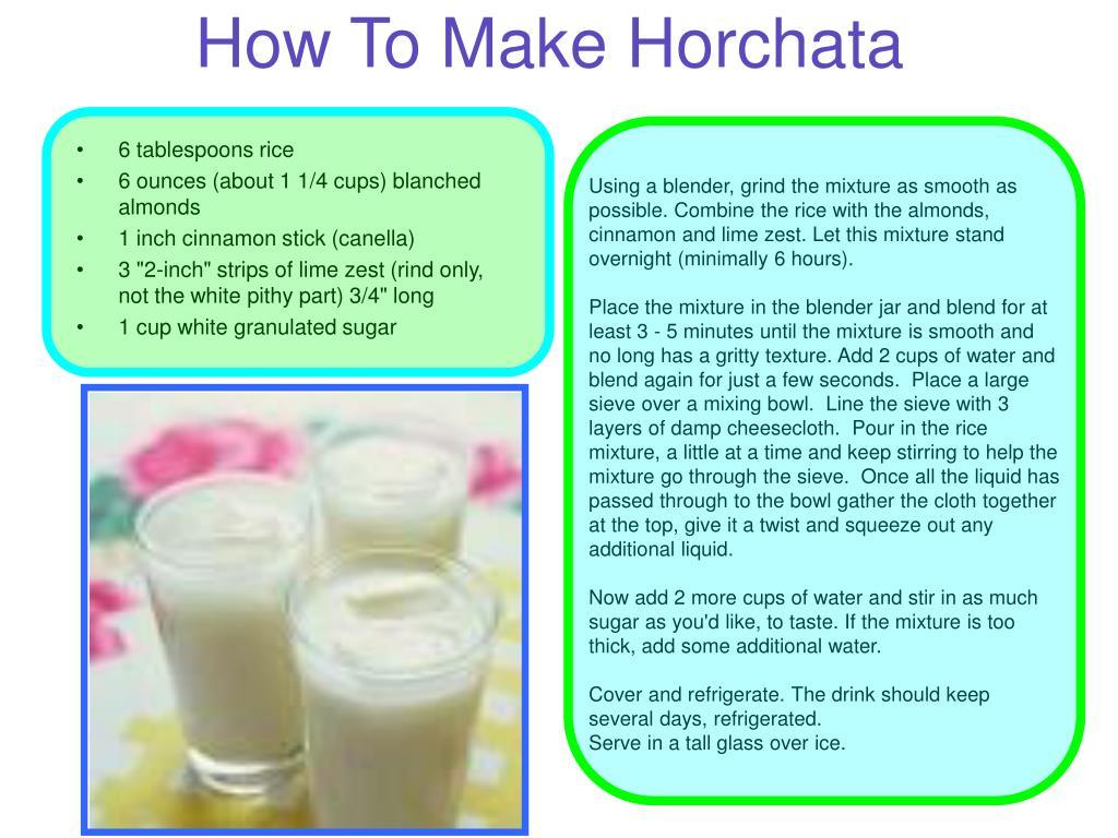 How To Make Horchata