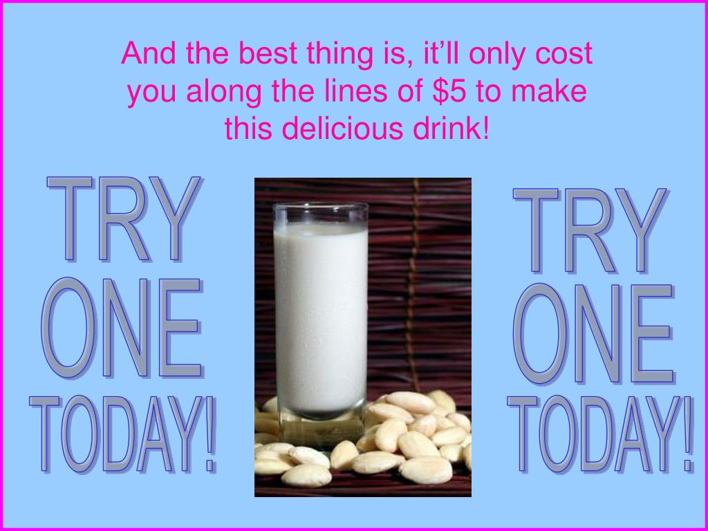 And the best thing is, it'll only cost you along the lines of $5 to make this delicious drink!