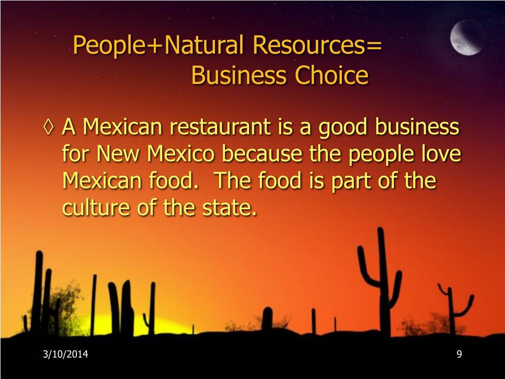 People+Natural Resources=