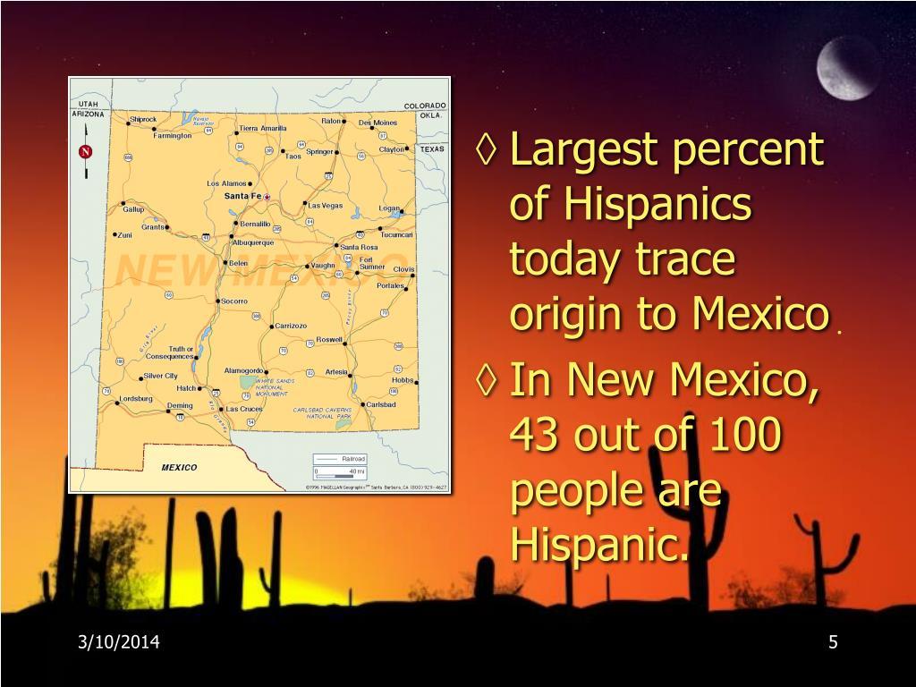 Largest percent of Hispanics