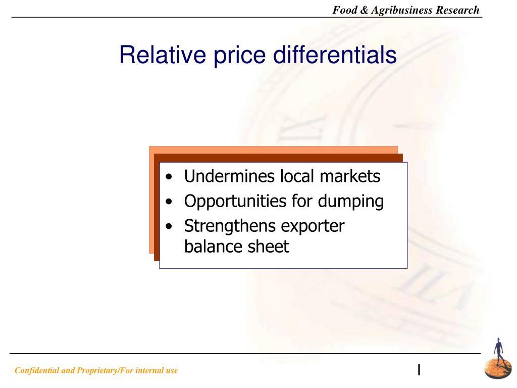 Relative price differentials