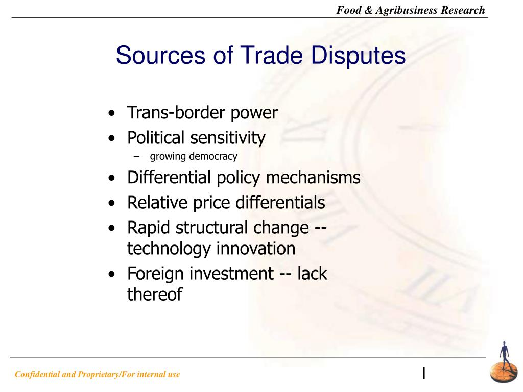 Sources of Trade Disputes