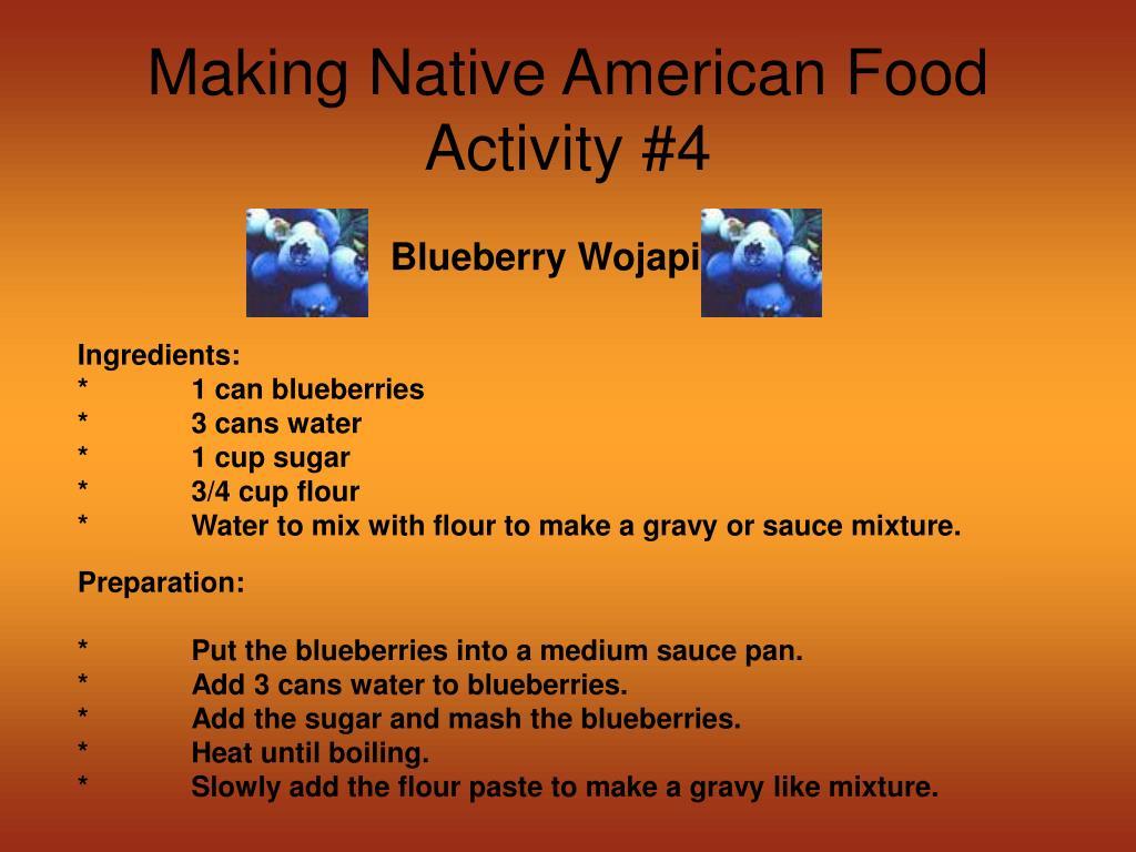 Making Native American Food