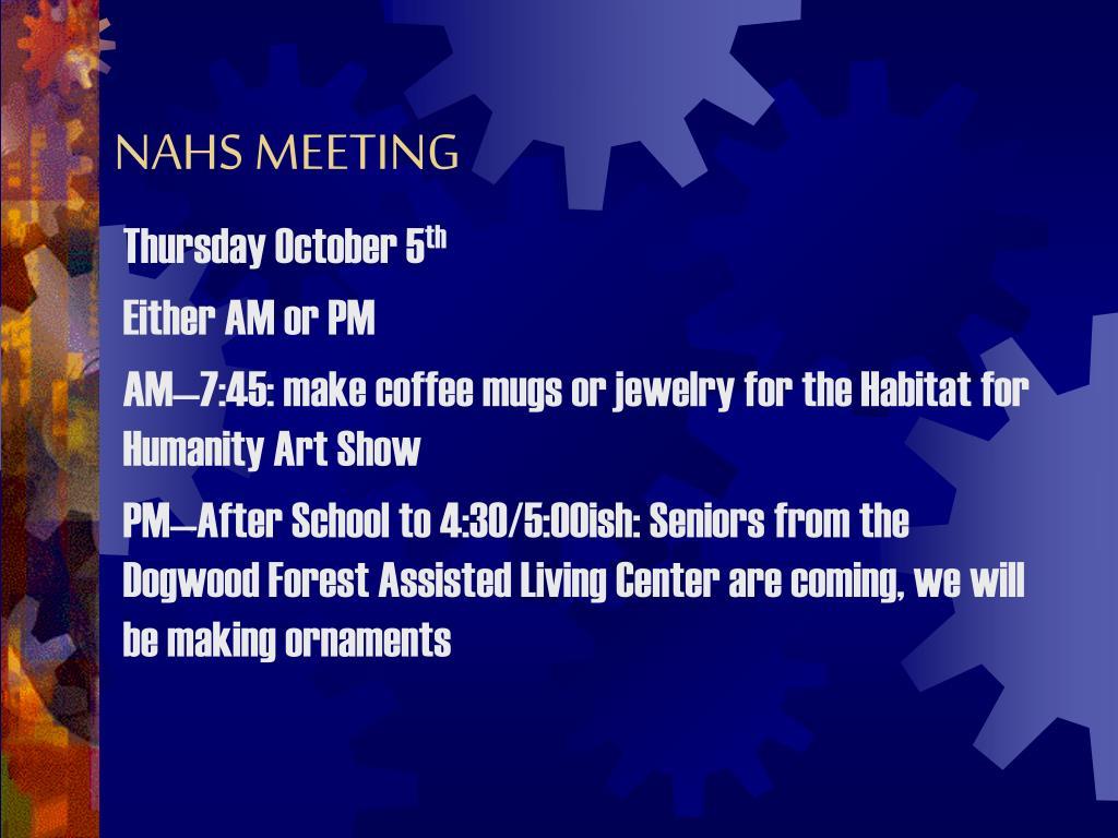 nahs meeting