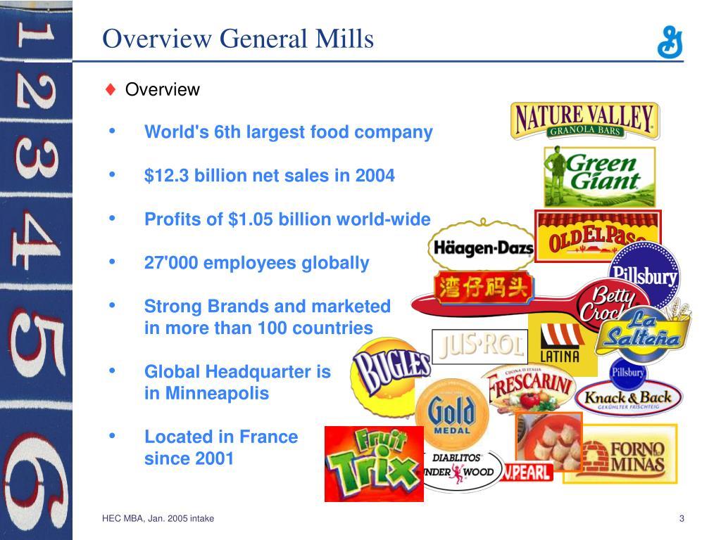 Overview General Mills