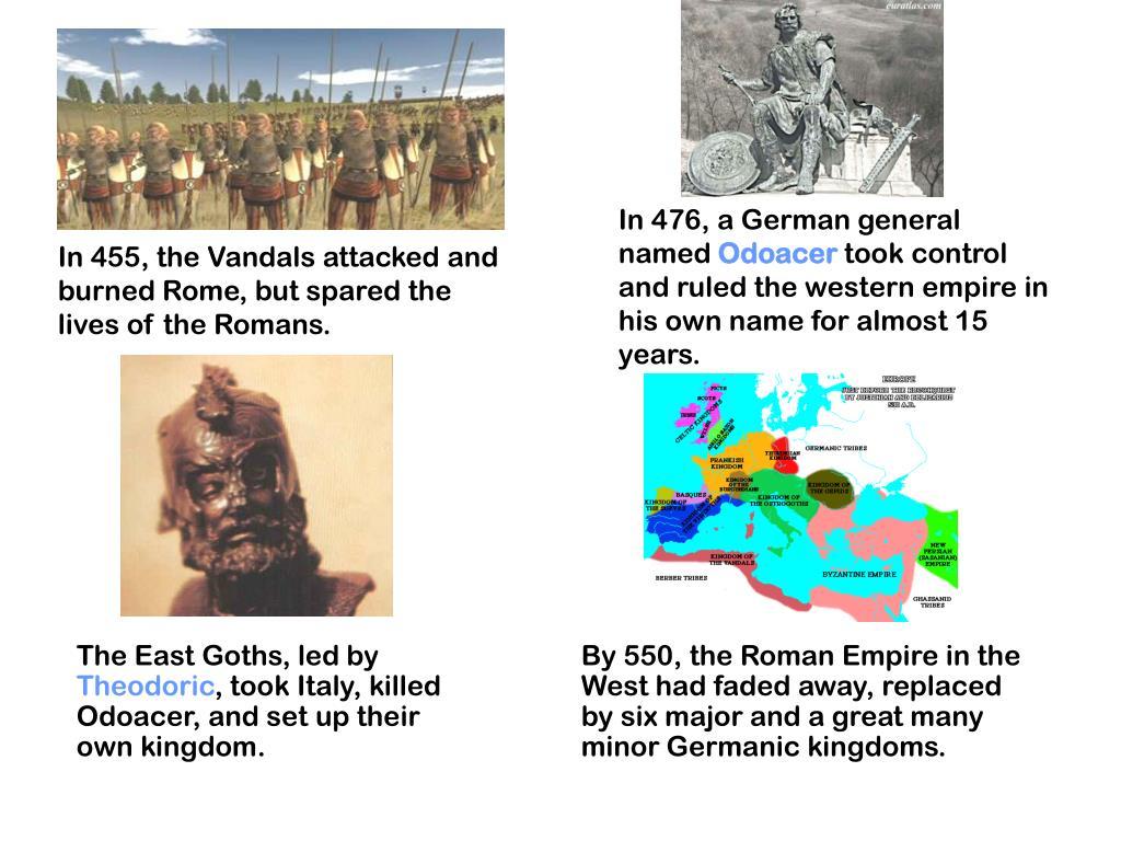 In 476, a German general named