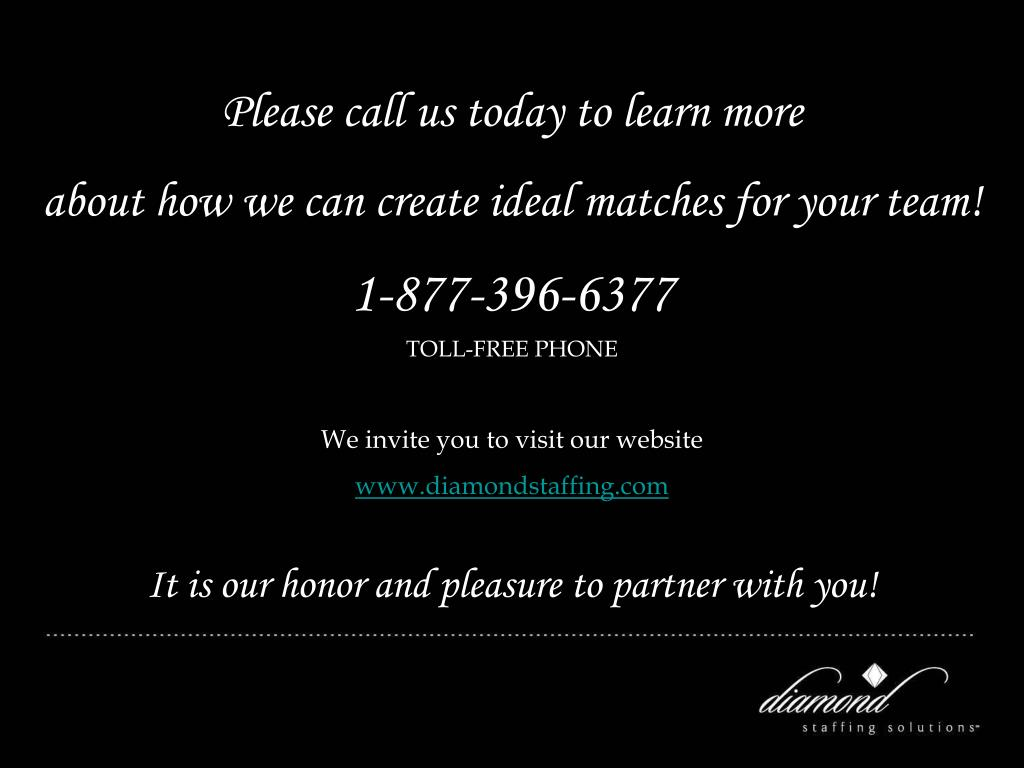 Please call us today to learn more
