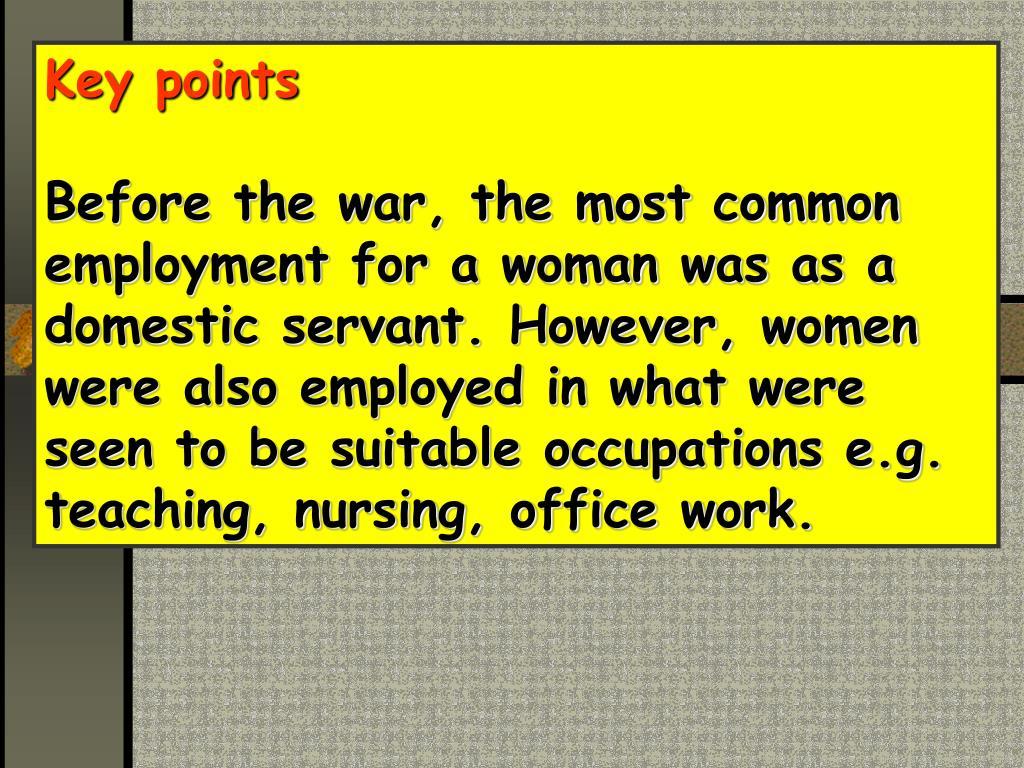 Key points
