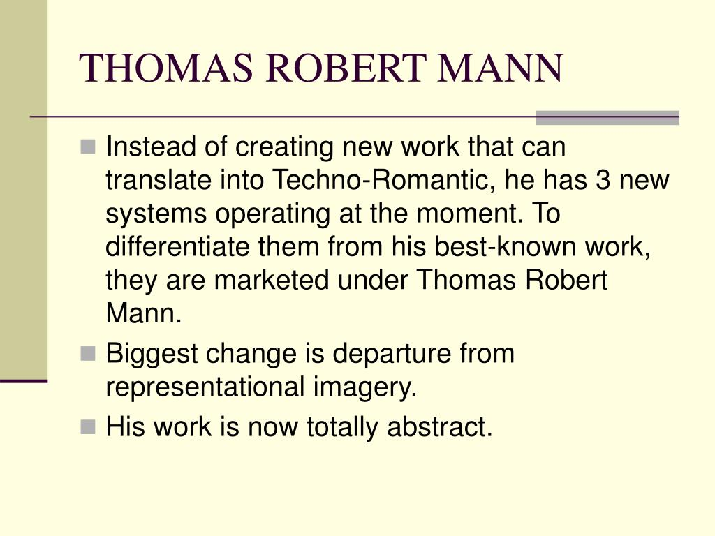 THOMAS ROBERT MANN