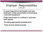 employer responsibilities continued10