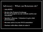 advocacy what can rotarians do